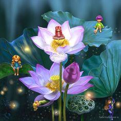 Lotus of India Art Print by sabrinatanase Design Lotus, India Art, Fairy Tales, Illustration Art, Digital Art, Art Prints, Rose, Flowers, Painting