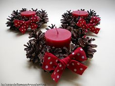 finished pinecone candel wreath