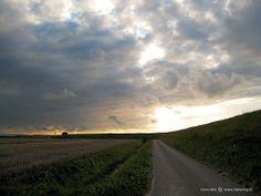 Dramatic sky above Zuid Beveland, near Wolphaartsdijk, The Netherlands