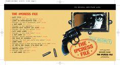 The Ipcress File OST CD booklet cover spread. Client: Silva Screen Records. Circa 2002. © Sean Mowle.