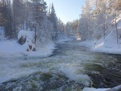 Pieni Karhunkierros, Kuusamo. Myllykosken kuohuja maaliskuun pakkassäässä. Outdoor, Outdoors, Outdoor Games, The Great Outdoors