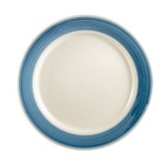 CAC China R6BLUE Rainbow Rolled Edge 612Inch Blue Stoneware Round Plate Box of 36 *** This is an Amazon Affiliate link. More info could be found at the image url.