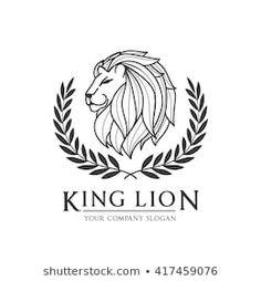 Vector de stock (libre de regalías) sobre King Lion Logo417459076
