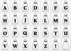 FREE printable alphabet ghost letter Pennant
