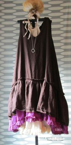 tina givens couture Prairie Linen oh my (fiction) One of Aubrie Landry's (heroine in Lead Me Beside Still Waters) dresses.
