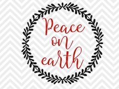 Peace on Earth Christmas nativity jesus reason for the season christmas tree santa SVG file - Cut File - Cricut projects - cricut ideas - cricut explore - silhouette cameo projects - Silhouette projects by KristinAmandaDesigns