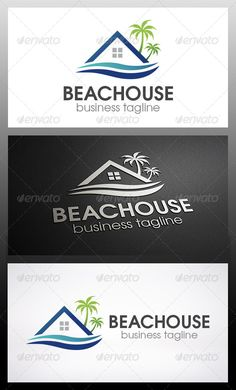 Beach House Logo — Vector EPS #spa #royal • Available here → https://graphicriver.net/item/beach-house-logo/6198413?ref=pxcr