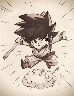 Goku Commission by DerekLaufman ►get more @rohitanshu◄
