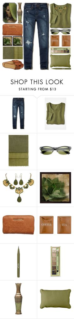 """End of Summer"" by grozdana-v ❤ liked on Polyvore featuring Hollister Co., Hobbs, Billabong, Bloomingville, Stila, Pixi, Elements and Improvements"