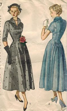 1940s Simplicity 2917 Vintage Sewing Pattern by midvalecottage