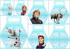 Frozen: Bellas Cajas con forma de Copo de Nieve para Imprimir Gratis.   Ideas y material gratis para fiestas y celebraciones Oh My Fiesta!