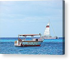 Cozumel Excursion Boats Acrylic Print by Debra Martz.  All acrylic prints are professionally printed, packaged, and shipped within 3 - 4 business days and delivered ready-to-hang on your wall. Choose from multiple sizes and mounting options.  #Cozumel #Excursion #Boats