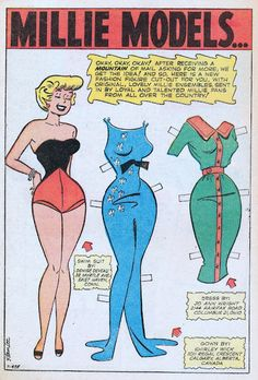 Modeling With Millie paper doll