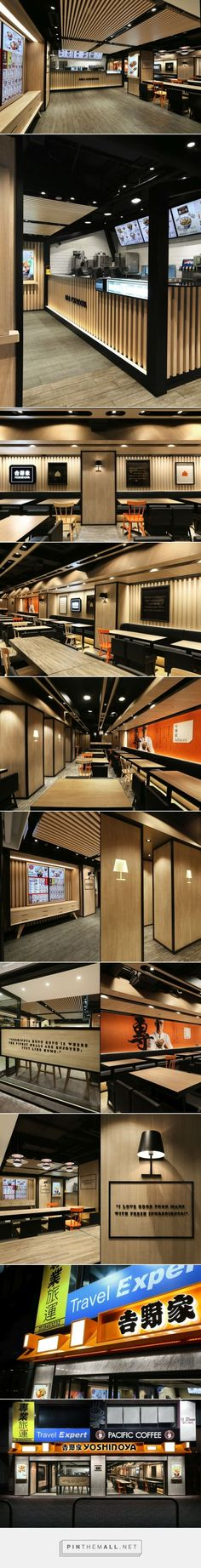 food dekorasyon Yoshinoya Fast Food Restaurant by AS Design Service, Hong Kong Retail Interior, Restaurant Interior Design, Cafe Interior, Design Logo, Cafe Design, Store Design, Café Restaurant, Fast Food Restaurant, Design Commercial