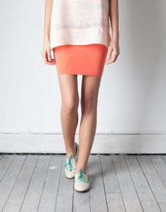 Coral Elastic Tube Skirt & with the shoes I love €13