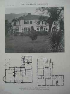 House of H.S. McKee, Esq., Monrovia, CA, 1915, Mr. Myron Hunt and Mr. Elmer Grey