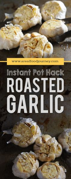 Crazy simple roasted garlic in your instant pot. Get the roasted flavor in a fraction of the time. Instructions for roasted garlic in your instant pot!