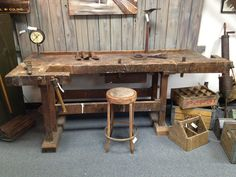 Old German Workbench. Reference URL -- http://www.badgerwoodworks.com/2012/05/old-german-workbench/