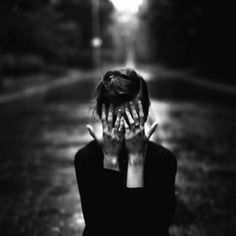 girl, hide, hands, black and white, photography