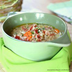 Karotten-Gerstel-Suppe » Kochrezepte von Kochen & Küche Cheeseburger Chowder, Chili, Soup, Stew, Carrots, Easy Meals, Chef Recipes, Food Food, Chile