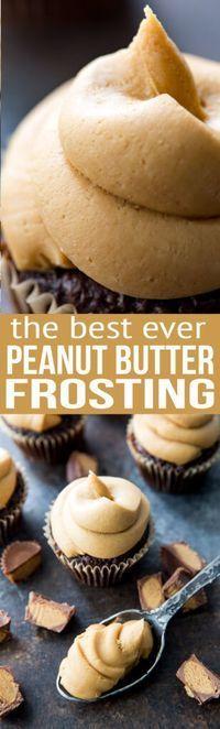 Peanut Butter Frosting http://www.eazypeazymealz.com/peanut-butter-cupcake/?utm_campaign=coschedule&utm_source=pinterest&utm_medium=Rachael%20%40%20EazyPeazyMealz&utm_content=Peanut%20Butter%20Frosting
