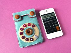 Dial Phone iPhone case No68 smoky turquoise by hine on Etsy, $54.00