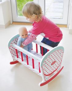 hearts rocking cot- NEW - Indigo Jamm designer toys from a UK based company