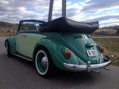 Cute Cars, Convertible, Volkswagen, Vw Bugs, Beetle, Norway, Pastel, Facebook, Color