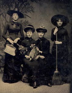 Tintype of witches c. 1875