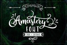Download the Amastery font and hundreds of other fonts now on Creative Fabrica. Get instant access and start right away.
