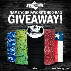 Pin it to Win it! All you have to do is visit www.hoorag.com and choose your favorite Hoo-rag design. Then Repin this and comment with your favorite Hoo-rag! #pinittowinit #thebetterbandana #rocktherag