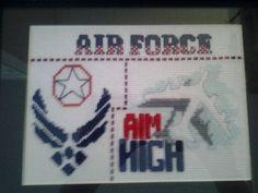 Aim High Air Force 5X7