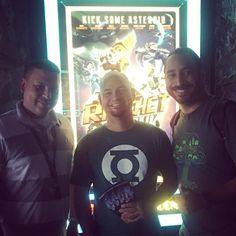 Info-Gamers junto a @extralifepr en la Premiere de #RatchetAndClank  #gamers #pelicula #movie