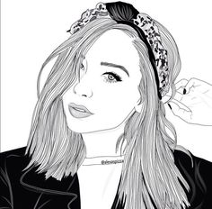 outline, art, and drawing image Tumblr Outline, Outline Art, Outline Drawings, Cute Drawings, Drawing Sketches, Drawing Ideas, Tumblr Girl Drawing, Tumblr Drawings, Tumblr Art