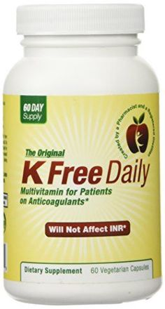 Multivitamin  No Vitamin K  Safe for People on Blood Thinners  60 Vegetable Capsules Two Months Supply -- Continue to the product at the image link.