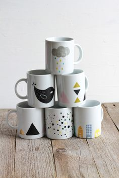 DIY paint mugs