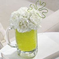 Green Beer flower arrangement.  Funny!