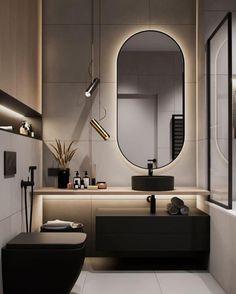 Washroom Design, Toilet Design, Bathroom Design Luxury, Modern Bathroom Design, Modern Luxury Bathroom, Modern Bathrooms Interior, Modern Interior, Home Room Design, Interior Design Living Room