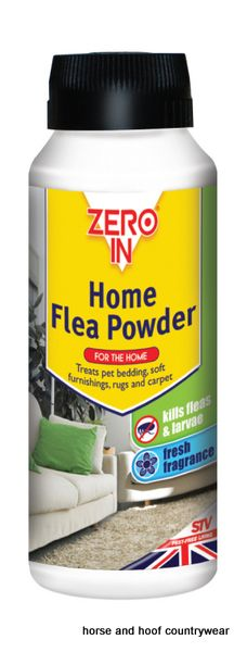 STV International Home Flea Powder For treatment of living areas including carpets rugs and soft furnishings Shake and vacuum formula absorbs pet odours.