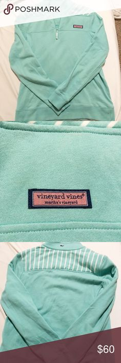 Mint green vineyard vines shep shirt VV shep shirt in the cutest shade of green. It says XS but it fits me and I'm a Sm-Med. coming from a pet/smoke free home and no flaws at all. It's in perfect condition so make an offer :) Vineyard Vines Tops Sweatshirts & Hoodies