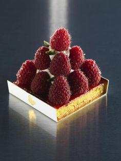 Pierre Mathieu's Raspberry Tart at @Amanda Snelson Snelson Snelson Snelson Reishus Oriental Hotel Group's Paris hotel.