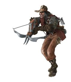 m npc Bandit Leather Armor Heavy Crossbow repeater Hand Axes forest hills road lg Character Concept, Character Art, Concept Art, Character Design, Character Ideas, D D Characters, Fantasy Characters, Vampires, Ranger