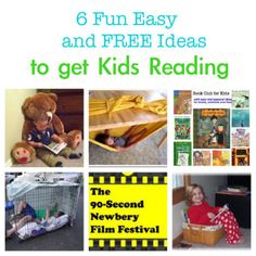 ^ Fun Easy and Free ideas to get kids reading - some great ideas in here! Book tasting, must try in next classroom