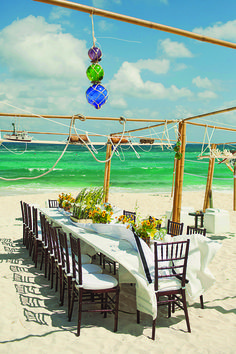 Another ideal destination for an outdoor wedding--island.