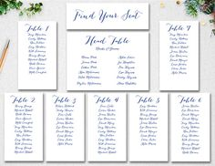 Free Printable Seating Chart Wedding Seating Chart Template Instant Download  Seating Plan .