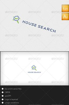 House Search  Logo Design Template Vector #logotype Download it here:  http://graphicriver.net/item/house-search-logo-template/2593645?s_rank=1432?ref=nesto