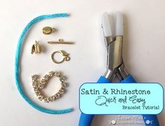 Quick and Easy Satin & Rhinestone Bracelet | Loose Ends Craft Blog