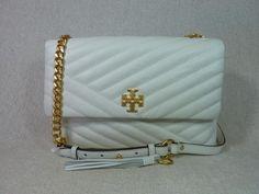 374ada2ee42eb Kira Chevron New Ivory Leather Shoulder Bag · Leather Shoulder BagTory Burch Chevron