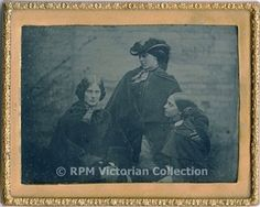 Recently discovered possible photograph of the Bronte sisters - LR: Charlotte, Emily, Anne. From www.brontesisters.co.uk
