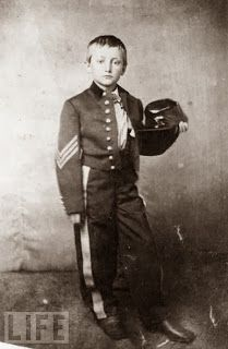 Johnny Clem was 10 years old when his mother died in 1861. Heartbroken, he ran away from his home in Newark, Ohio, and tried to join the 3rd Ohio Infantry as a drummer boy. The 3rd Ohio refused him, as did his next choice, the 22nd Michigan Infantry. Clem tagged along with the 22nd Michigan anyway, and, despite his youth, saw a bit of action on the battlefield. He shot a Confederate general during the Battle of Chickamauga (earning him the rank of sergeant.